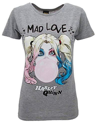 Sabor srl T-shirt Harley Quinn original Birds of Prey et la Renaissance de Harley Quinn Film 2020 officiel T-shirt Lady pour femme Gris - Gris - X-Small