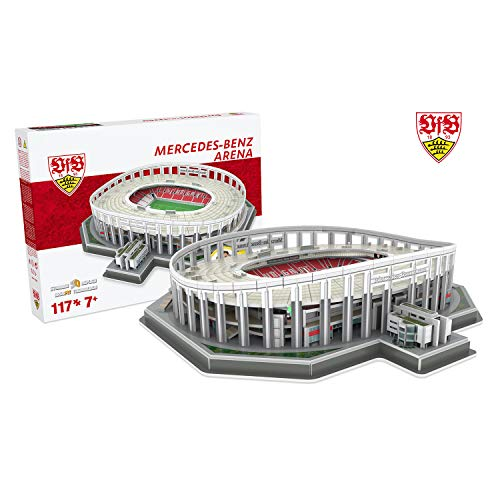 Nanostad 70490061 Stadion Mercedes Benz Arena Stuttgart 3D Puzzle, Mehrfarbig