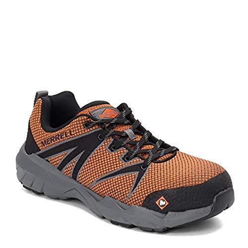 Merrell Men's Fullbench 55 Alloy Toe Work Shoes, Orange, 8