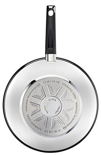 Tefal E8241914 - Wok, acero inoxidable, plata, 28 cm