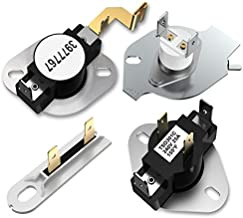 3977393 Dryer Thermal Fuse 3392519 Thermal Fuse 3977767 Dryer High-Limit Thermostat 3387134 Cycling Thermostat Kit,Compatible with Kenmore Elite 110 70 80 Series,Maytag Whirlpool Electric Gas Dryer