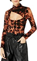 KENDALL + KYLIE Women's Turtleneck Bodysuit With Cut-out - Amazon Exclusive
