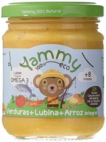 Yammy, Potito Ecológico de Pescado (Verduras, Lubina y Arroz Integral) - 12 tarritos de 195 gr. - 100% natural / 100% ecológico