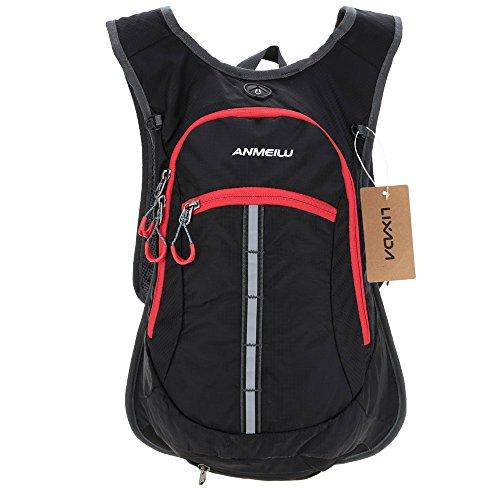 Lixada Mochila de 15 litros, impermeable, transpirable, para bicicleta, para viajes, equitación, senderismo, montañismo, escalada, con protector de lluvia