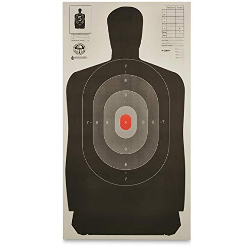 Law Enforcement Silhouette B-27 Targets, 50 Pack