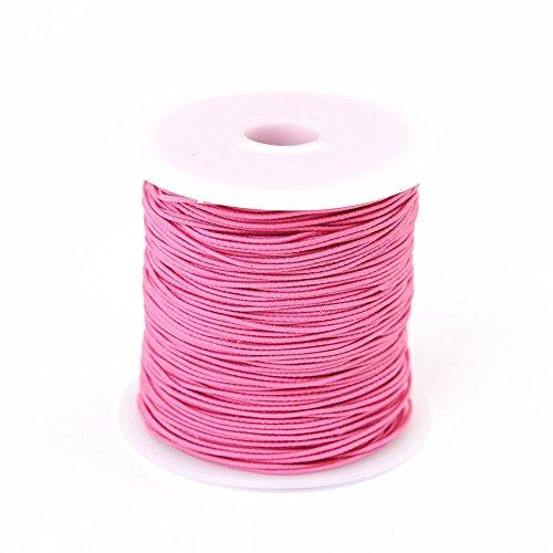 Bingcute 1.0MM Pink Elastic Cord, 100 Yard (Pink)