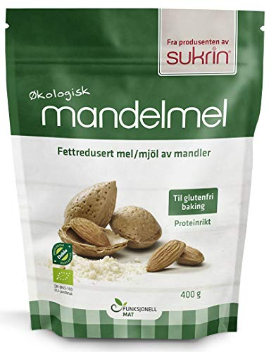 Sukrin Flour - Natural Low Carb Flour Substitute For Healthy Cooking and Baking (Organic Almond Flour - 400g)