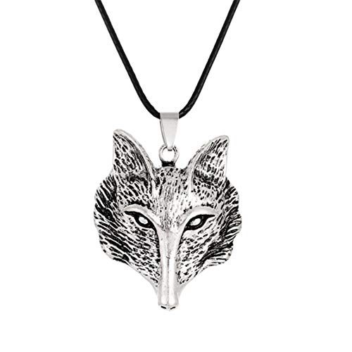 SHOYY Leather Chain Old Ritual Tree Of Life Necklace For Women Talisman Pendants Necklaces Men Vintage Jewelry Decorations (Metal Color : Fox)