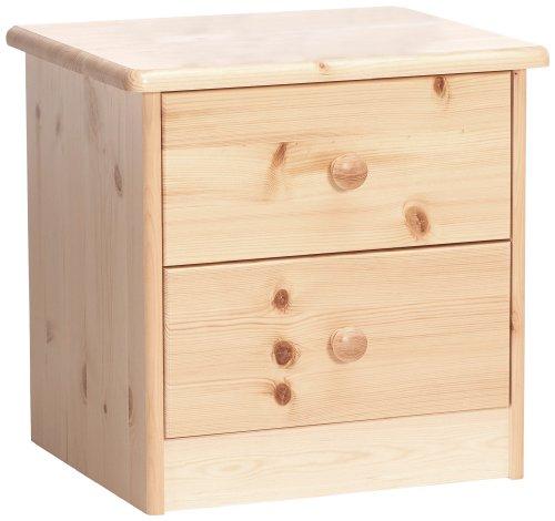 """Steens 17800219 - Comodino""""Mario"""", 41 x 42 x 35 cm, legno di pino massiccio, verniciatura naturale, beige"""