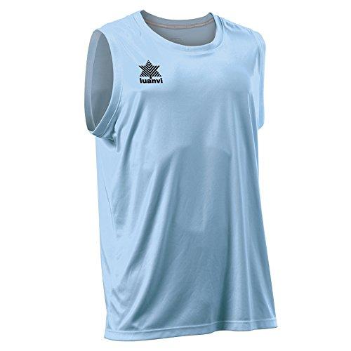 Luanvi Basket Pol T-Shirt de Sport sans Manches pour Homme XL Bleu (céleste)