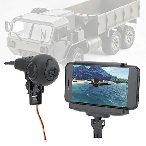Cámara RC WiFi Tecnología Avanzada de transmisión de Imagen Negro Accesorio de camión RC más Interesante para Coche RC(Black)
