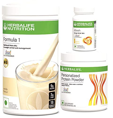 Herbalife Weight Loss Package Vanilla Shake, 500 g Personalized Protein Powder, 200 g and A Fresh Lemon, 50 g
