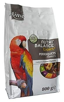 AIME Nourriture pour Perroquet, Nutri'Balance Expert, Menu expert pour Perroquets, Sac de 800 G