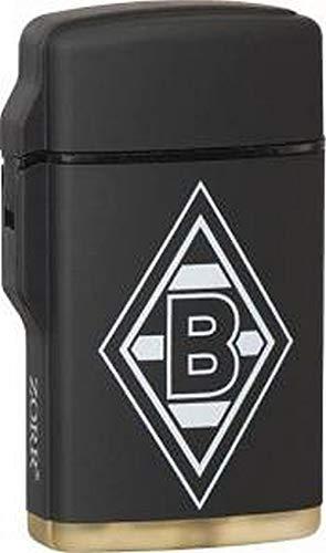 ZORR Borussia M`Gladbach Feuerzeug Rubber Jetflame Laser schwarz Fußball Fanartikel Mönchengladbach Raute