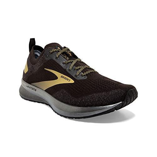 Brooks Mens Levitate 4 Running Shoe - Black/Gold - D - 7.5