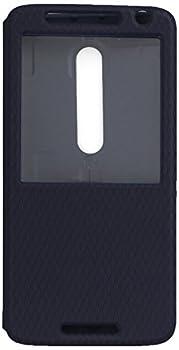 Motorola Droid Maxx 2 Verizon Soft Flip Protective Case Cover - Navy Blue