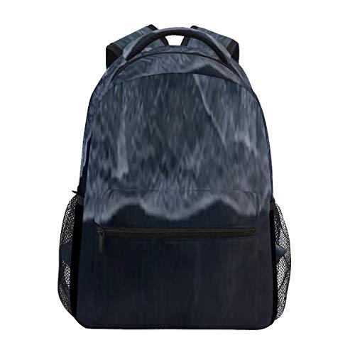 Mode-Print-Rucksack, Luftaufnahme Drohne Atlantik Wellen lässig Rucksack, Verstellbarer Schultergurt, Unisex wasserdicht leichte College-Rucksack Reisen Wandern Laptop-Rucksack