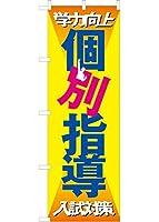 個別指導 のぼり旗(オレンジ)