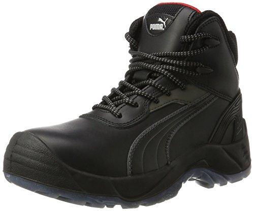 Puma Safety Shoes Pioneer Mid S3 SRC, Puma 630100-202 Unisex-Erwachsene Sicherheitsschuhe, Schwarz (schwarz 202), EU 46