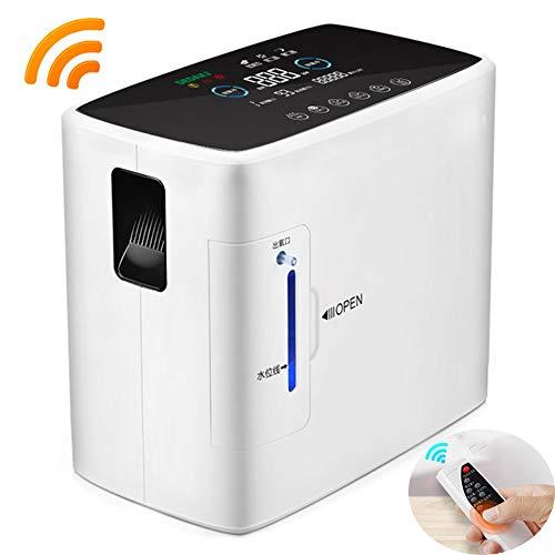 Humidificador Portátil Generador De Oxígeno 8 En 1 para Uso Doméstico,Suplemento Oxígeno Al90% para Ancianos Y Mujeres Embarazadas,Purificador Aire para Automóvil con Control Remoto Inalámbrico