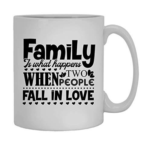 WTOMUG Family Is The Place Where We Love Coffee Mug, Ceramic Mug, White Mug 11 oz