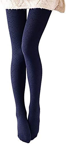 VERO MONTE 1 Pair Women s Modal Cotton Opaque Knitted Patterned Tights Navy 40921 product image
