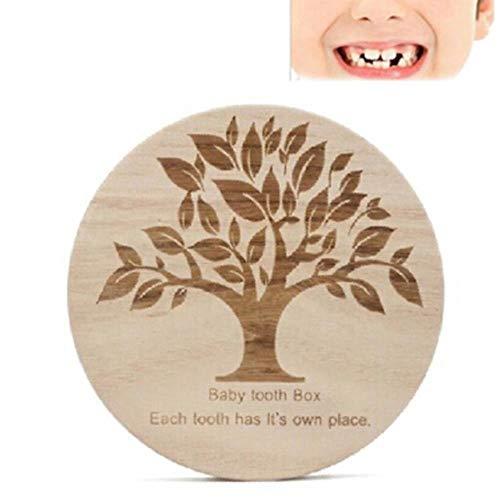 Aomerrt Creatieve Tandendoos Organizer Voor Baby Hout Opslag Melk Tanden Engels Hout Tandendoos Organizer Opslaan Verzamelen Tanden Geschenken
