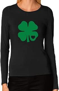 Irish Shamrock Green Clover Heart St. Patrick's Day Women Long Sleeve T-Shirt