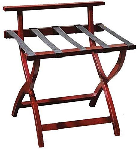 GDFEH Soportes para maletas Soporte de Equipaje Equipaje Equipaje Equipaje Rack Tinquio de equipaje, Pozo de madera plegable Solder de madera Portadora de estantes de equipaje Maleta Maleta Mochila Fa