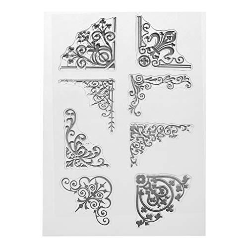 Koehope cornice trasparente timbro in silicone trasparente timbro DIY Scrapbooking Embossing fiore decorazione carta fatto a mano regalo per bambini amico regalo