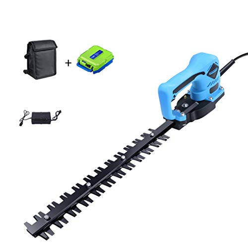 SWTY Cortacésped electrico/recortador de arbustos inalámbrico de 24 V y 1500 RPM, Que Incluye batería y Cargador de Iones de Litio Recargables a Bordo, y Motor sin escobillas