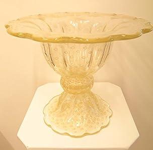 Cose belle cose rare Centro de mesa de cristal de Murano/Centerpiece de Murano Glass hecho a mano en Italia