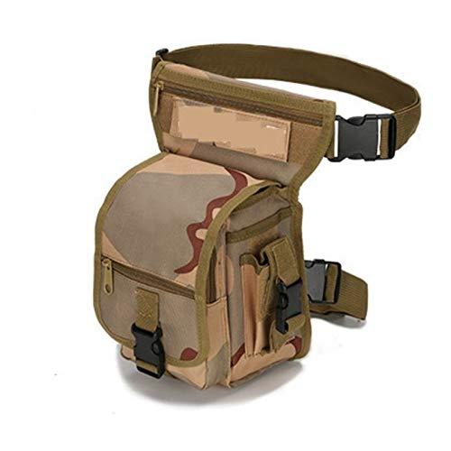 De múltiples fines Cintura militar Fanny Pack ARMAS Tácticas Paseo Bolsa de pierna para hombres Empresa impermeable Utility Utility Thigh Bolsa Cinturón de cadera multiusos para escalada al aire libre