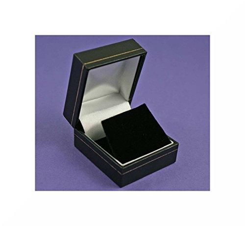 SilverFox Black Leatherette Earring Box