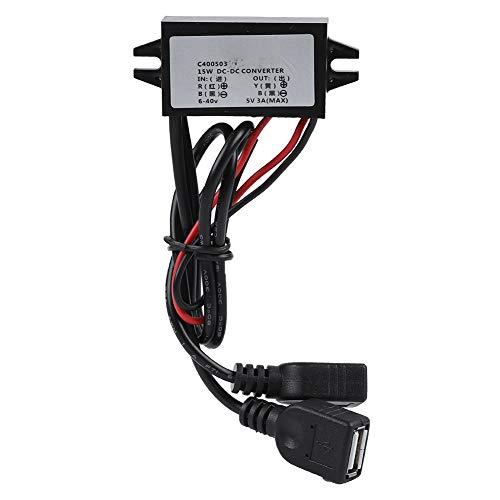 Taidda CPT Dual USB Power Converter, Protección Completa contra sobretensiones Dual USB para Raspberry Pi Mobile Phone Navigator Drive Recorder Power Converter