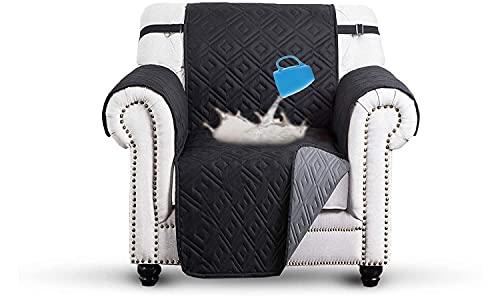 IR gesteppter Sofabezug für Ein-, Zwei- und Dreisitzer, Möbelschutz, 100% Polyester / Microfaser / Polyester, hellgrau, Two Seater