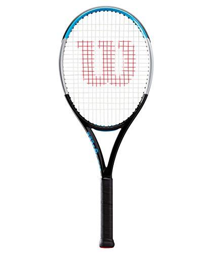 Wilson Ultra 100UL V3 - Raqueta de tenis (cordaje, 16 x 19 cm), color negro y azul