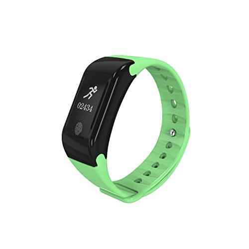 Fitness Tracker Neue Sport wasserdicht Smart Armband Armband Uhr mit Pulsmesser Schrittzähler Touchscreen für iPhone Samsung IOS Android Smartphones(Blue)