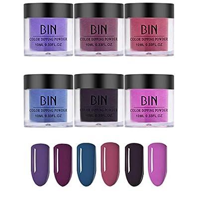 6PCS Nails Dip Powder Without UV/LED Nail Lamp ...