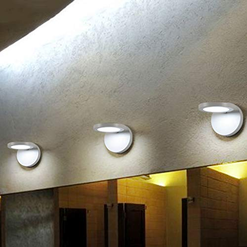 Vast leeslamp, minimalistische stijl, Black Energy Saving Round Materiaal: acryl, wand, leeslamp, trap, bedlampje, voor gang, 14 cm x 16 cm 222