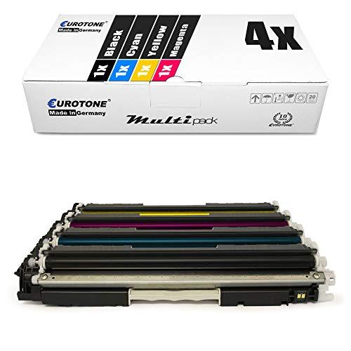 4X Eurotone kompatibler Toner für HP Color Laserjet Pro MFP M 176 177 fw n ersetzt CF350A-53A 130A