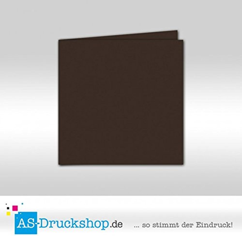 Faltkarte - Schoko - Samt satiniert satiniert satiniert 50 Stück Quadratisch 155 x 155 mm B079QJGNJW  | König der Quantität  251854