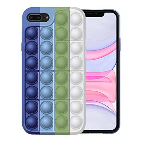 Fidget Toy Funda para iPhone 7/7 Plus Apple,Fidget Toy Pack iPhone 7/7 Plus Funda Silicona Antigolpes Pop It Fidget Toys Set Case (iPhone 7 Plus, 2)