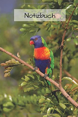 Notizbuch Papagei: Tagebuch / Notizbuch liniert mit Papagei Bild als Motiv   Geschenk für Papagei und Vogelliebhaber