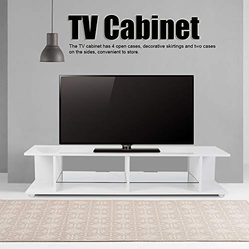 Cerlingwee Soporte de TV Blanco, Mueble de TV, Oficina para Sala de Estar, Dormitorio en casa(Pink)