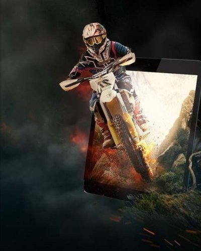 Composition Book: Motor Cross