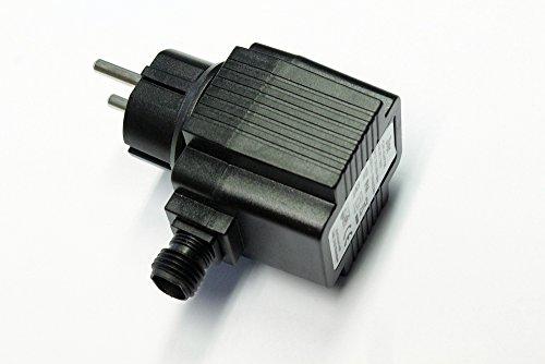Arnusa Steckernetzteil 12V AC 1800mA 21.6VA IP44 20W für Springbrunnen, Beleuchtung und Lichterketten