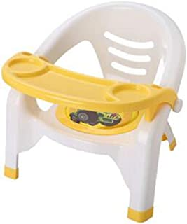 LINANA Children s Chair Baby Dining Chair Back Chair Nursery Chair Plastic Bench Dining Table Stool Cartoon Baby Dining Chair Yellow
