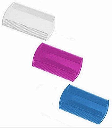 Lot 3 double peigne Anti Poux Plastique Enfant Adulte - Hygiene Lente Cheveux - 007