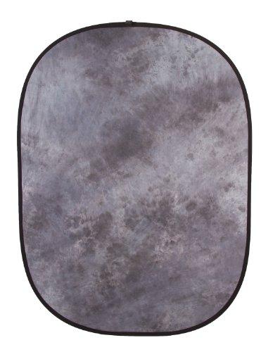 Fovitec Doppelseitiger Falthintergrund, Musselin, 1,5m x 2m, Grau